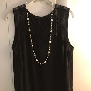 Black blouse with lace top